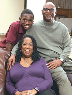 Pamela and her husband and son